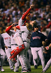 The Boston Red Sox win, 2007
