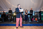 David Rockefeller Jr. gives a toast at the wedding reception for his daughter Ariana on Mount Desert Island, Maine, Saturday, September 4, 2010.  Craig Dilger for The New York Times