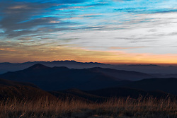 Mt. Pisgah, Pisgah National Forest, North Carolina, as seen from  Black Balsam Knob, North Carolina (NC).