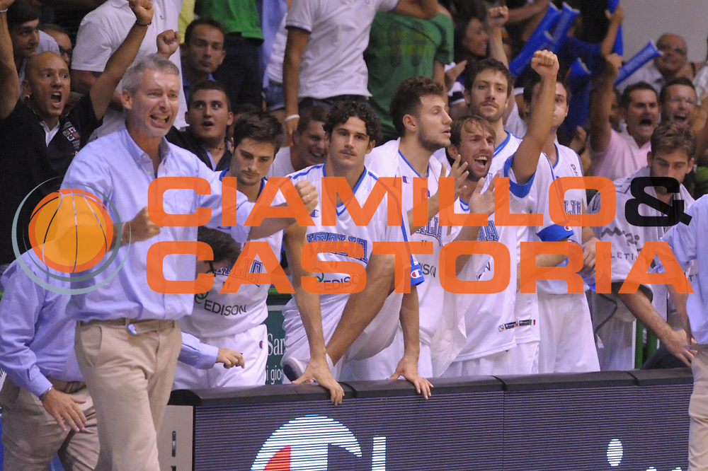 DESCRIZIONE : Sassarii Qualificazioni Europei 2013 Italia Turchia<br /> GIOCATORE : Team Italia <br /> CATEGORIA : Esultanza<br /> EVENTO : Qualificazioni Europei 2013<br /> GARA : Italia Turchia<br /> DATA : 21/08/2012 <br /> SPORT : Pallacanestro <br /> AUTORE : Agenzia Ciamillo-Castoria/GiulioCiamillo<br /> Galleria : Fip Nazionali 2012 <br /> Fotonotizia : Sassari Qualificazioni Europei 2013 Italia Turchia<br /> Predefinita :