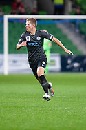 Melbourne City midfielder Riley McGree (8) runs for the ball at the FFA Cup quarter-final soccer match between Melbourne City FC and Western Sydney Wanderers FC at AAMI Park in Melbourne.