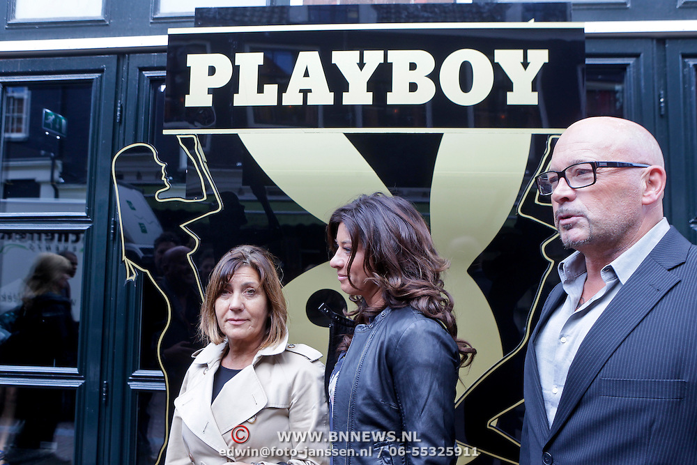 NLD/Amsterdam/20111006 - Lancering Playboy met Amanda Krabbe, met haar ouders, oa vader Kees Beekman