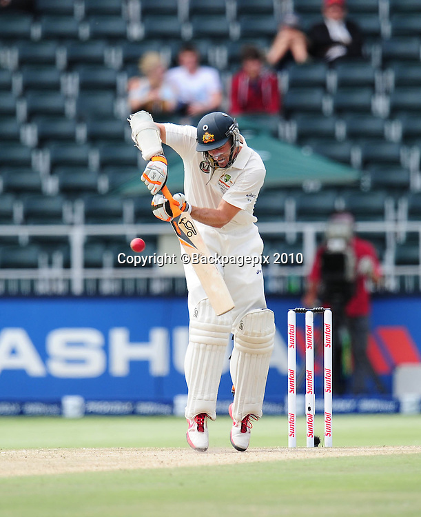 David Hussey of Australia, Cricket - 2011 Sunfoil Test Series - South Africa v Australia - Day 5 - Wanderers Stadium<br /> &copy;Chris Ricco/Backpagepix