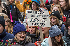 19 Jan 2019 - Thousands take part in the annual Women's March to demand an end to austerity.