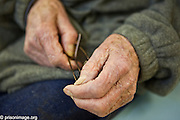 89 year old Fred is one of the many OAP's in prison. HMP & YOI Littlehey. Littlehey is a purpose build category C prison.