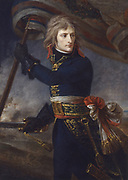 General Bonaparte at Arcole, 17 November 1796'  Napoleon I (1769-1821). (Antoine) Jean Gros (1771-1835) French historical painter. Oil on canvas. Musee National, Chateau de Versailles .