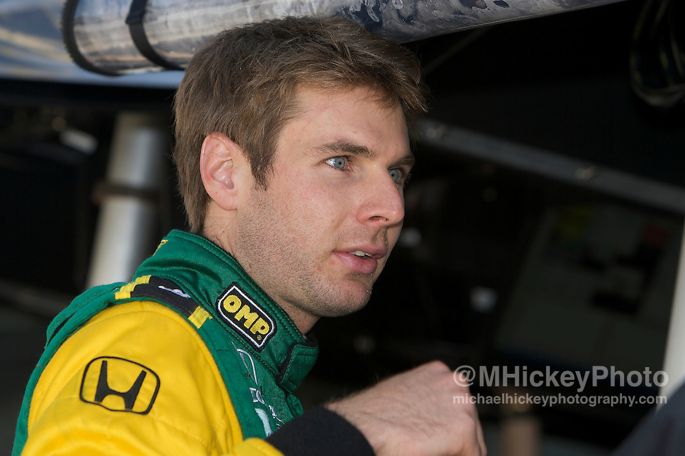 Indy Car driver Will Power seen in the pits during qualifications for the Indy 500. Photo by Michael Hickey