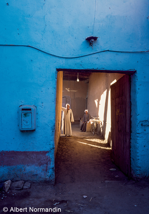 Blue Wall and Doorway One, Luxor, Egypt, 1996