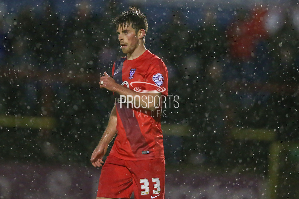 York City midfielder, on loan from Tottenham Hotspur, Kenny McEvoy  during the Sky Bet League 2 match between York City and Accrington Stanley at Bootham Crescent, York, England on 28 November 2015. Photo by Simon Davies.
