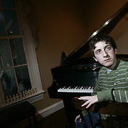 """Scarsdale, NY / 2009 - George Frankle, 13, an eighth grade student from the Scarsdale Choice School, has composed music which will be performed at a """"School-Day"""" concert by the New York Philharmonic on Feb.13 at Avery Fisher Hall. ( Mike Roy / The Journal News )"""