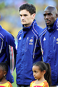 Hugo Lloris lines up before the 2010 World Cup Soccer match between South Africa and France played at the Freestate Stadium in Bloemfontein South Africa on 22 June 2010.