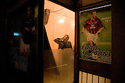 Sports betting bar, Serb section...Scenes from Kosovska Mitrovica, Kosovo, Serbia.