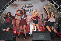 The Saturdays perform before turning on the Oxford Street  Christmas lights in London, Tuesday 1st November 2011. Photo by: Stephen Lock/i-Images