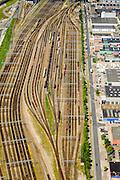 Nederland, Zuid-Holland, Rotterdam, 10-06-2015; bedrijventerrein Waalhaven-Zuid (Waalhaven Zuidzijde)  Emplacement Waalhaven.<br /> Waalhaven Zuid railway yard.<br /> luchtfoto (toeslag op standard tarieven);<br /> aerial photo (additional fee required);<br /> copyright foto/photo Siebe Swart