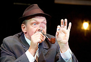 Loot <br /> by Joe Orton <br /> at Park Theatre, London, Great Britain <br /> press photocall <br /> 22nd August 2017 <br /> directed by Michael Fentiman <br /> <br /> <br /> Christopher Fulford as Truscott <br /> <br /> <br /> <br /> <br /> Photograph by Elliott Franks <br /> Image licensed to Elliott Franks Photography Services