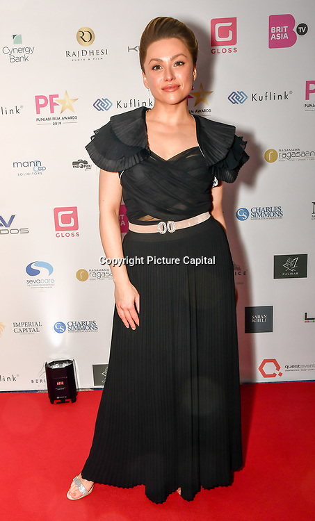 Kay Lovelle attend the BritAsiaTV Presents Kuflink Punjabi Film Awards 2019 at Grosvenor House, Park Lane, London,United Kingdom. 30 March 2019