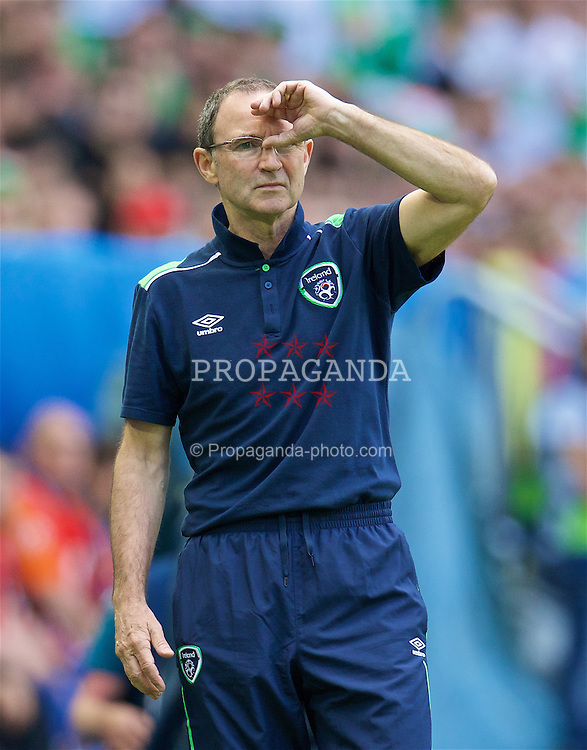 BORDEAUX, FRANCE - Saturday, June 18, 2016: Republic of Ireland manager Martin O'Neill during the UEFA Euro 2016 Championship Group E match against Belgium at Stade de Bordeaux. (Pic by Paul Greenwood/Propaganda)