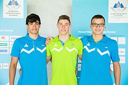 Popovic Grega, Blaz Demsar and Vito Vodenik during presentation of Slovenian Team for Baku 2015 European Games,  on June 4, 2015 in Koper, Slovenia. Photo by Vid Ponikvar / Sportida