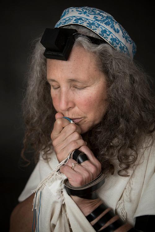 "Portrait of member of  ""Women of the Wall"", Bonna Devora Haberman. July 24, 2013. Photo by Miriam Alster/FLASH90"