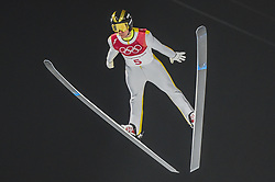 February 10, 2018 - Pyeonchang, Gangwon, South Korea - Alexey Romashov of New Zealand at mens normal hill final at 2018 Pyeongchang winter olympics at Alpensia Ski Jumping Centre, Pyeongchang, South Korea on February 10, 2018. Ulrik Pedersen/Nurphoto  (Credit Image: © Ulrik Pedersen/NurPhoto via ZUMA Press)