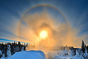 Halo above the Grass River at Pisew Falls<br />