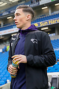 Derby County midfielder Harry Wilson (7) warm up during the The FA Cup 5th round match between Brighton and Hove Albion and Derby County at the American Express Community Stadium, Brighton and Hove, England on 16 February 2019.
