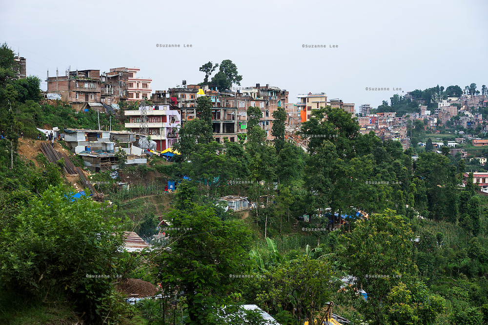 A general view of Chautara, Sindhupalchowk, Nepal on 29 June 2015. Sindhupalchowk was one of the most devastated by the April 25th earthquake and aftershocks that killed over 8000 people and injured over 19000 people, destroying over half a million houses. Photo by Suzanne Lee for SOS Children's Villages