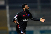 Carlisle Utd's Jabo Ibehre during the The FA Cup Third Round Replay match between Yeovil Town and Carlisle United at Huish Park, Yeovil, England on 19 January 2016. Photo by Graham Hunt.