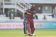 Chris Gayle of West Indies during the International Twenty/20 match at Lord's, London<br /> Picture by Simon Dael/Focus Images Ltd 07866 555979<br /> 31/05/2018