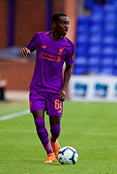 BIRKENHEAD, ENGLAND - Tuesday, July 10, 2018: Liverpool's Rafael Camacho during a preseason friendly match between Tranmere Rovers FC and Liverpool FC at Prenton Park. (Pic by Paul Greenwood/Propaganda)