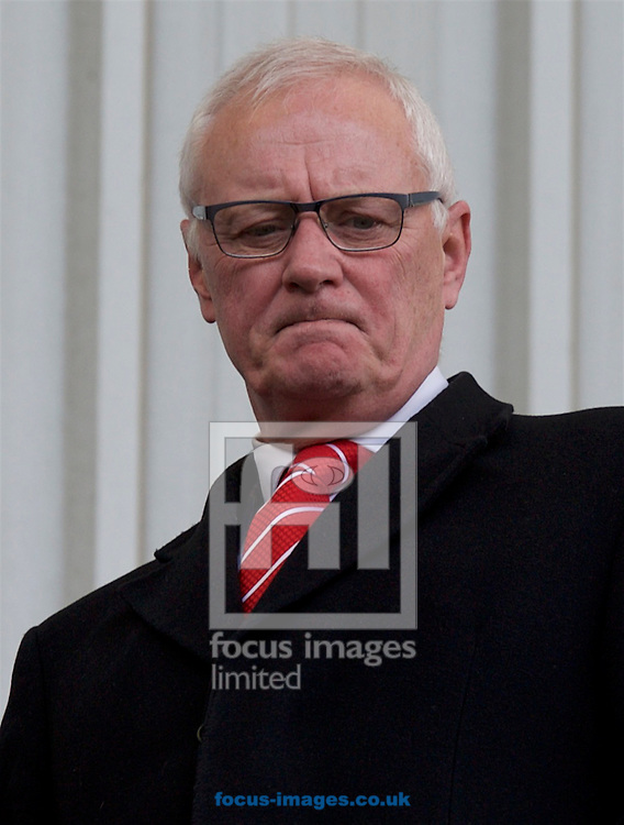 Former owner Barry Hearn during the Sky Bet League 2 match at the Matchroom Stadium, London<br /> Picture by Alan Stanford/Focus Images Ltd +44 7915 056117<br /> 28/03/2016