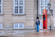 guards at Palace Amalienborg in Copenhagen, Denmark, Scandinavia