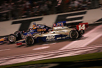 AJ Foyt IV and Alex Barron at the Texas Motor Speedway, Bombardier Learjet 500, June 11, 2005