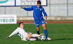 Anej Lovrecic vs Tadej Apatic of Domzale at 18th Round of PrvaLiga football match between NK Domzale and NK Celje, on November 22, 2009, in Sportni center, Domzale, Slovenia. (Photo by Vid Ponikvar / Sportida)