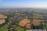 aerial photograph of Shevington  Lancashire