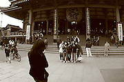 Mar 6, 2006; Tokyo, JPN; Asakusa.Visitor's take pictures in front of the Senso-ji Buddhist temple...Photo credit: Darrell Miho