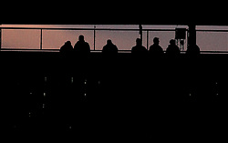 Reading supporters in the stands at the Madejski Stadium as the sun sets - Mandatory byline: Robbie Stephenson/JMP - 07966 386802 - 20/12/2015 - FOOTBALL - Madejski Stadium - Reading, England - Nottingham Forest v MK Dons - Sky Bet Championship
