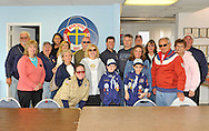 APRIL 30, 2011 - WANTAGH, NY: (back row - center) Legislator Dave Denenberg (Dist 19) and (to his right) Commandore Bill Hoehn of Wantagh Bay Yacht Club, with, in front row (1st from left) Claudia Borecky, Pres. of North and Central Merrick Civic Association; and Cub Scouts (left) John Palumbo and (right) Robert Peters. Other WBYC members also present: Joanne Ambrosio, Mary Blozis, Jeanette Brill, Ed Beyer, Larry Silverstein, Kevin Madden, Helene Monaghan, Betty Beyer, Joe Blozis, Richie Ruppert, Debbie Ruppert, Angela Paul, Dave McAndrews, Jim Monaghan, John Rogers, and Evelyn Palumbo. (photo © 2011 Ann Parry, All rights reserved - AnnParryPhotography.com)