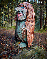 Troll on Mount Fløyen. Image taken with a Nikon 1 V2 camera and 10-110 mm lens.
