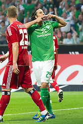 10.09.2011, Weser Stadion, Bremen, GER, 1.FBL, Werder Bremen vs Hamburger SV, im Bild.1:0 durch Claudio Pizarro (Bremen #24) Jubel .// during the Match GER, 1.FBL, Werder Bremen vs Hamburger SV on 2011/09/10,  Weser Stadion, Bremen, Germany..EXPA Pictures © 2011, PhotoCredit: EXPA/ nph/  Kokenge       ****** out of GER / CRO  / BEL ******