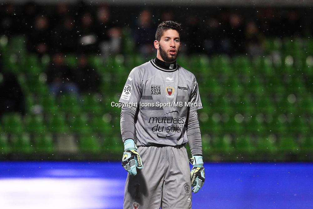Mouez HASSEN - 31.01.2015 - Metz / Nice - 23eme journee de Ligue 1<br />Photo : Fred Marvaux / Icon Sport