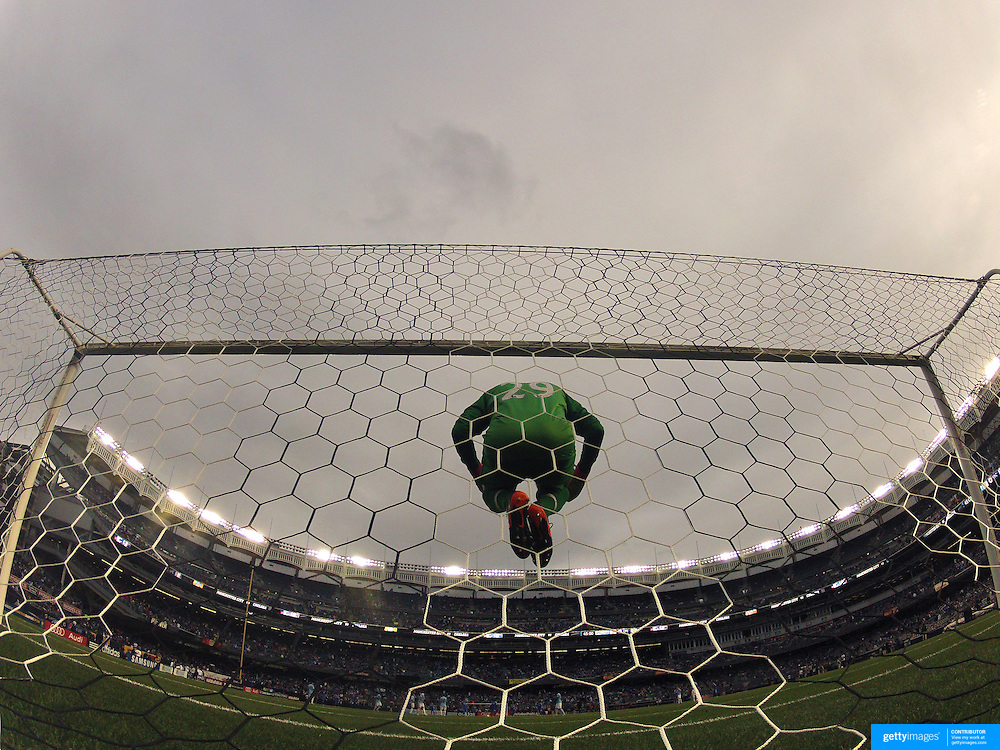 Goalkeeper Richard Wright, Manchester City, warms up before the start of the second half during the Manchester City V Chelsea friendly exhibition match at Yankee Stadium, The Bronx, New York. Manchester City won the match 5-3. New York. USA. 25th May 2012. Photo Tim Clayton