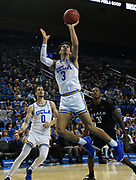 Nov 6, 2019; Los Angeles, CA, USA; UCLA Bruins guard Jules Bernard (3) shoots the ball in the second half against Long Beach State at Pauley Pavilion. UCLA defeated Long Beach State 69-65.