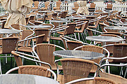The Champagne Bar seating area is empty owing to the inclement weather prior to the Countryside Raceday, October Finale at York Racecourse, York, United Kingdom on 12 October 2018. Pic Mick Atkins