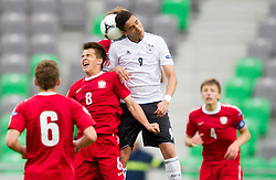 Sebastian Rudol of Poland vs Said Benkarit of Germany during the UEFA European Under-17 Championship Semifinal match between Germany and Poland on May 13, 2012 in SRC Stozice, Ljubljana, Slovenia. (Photo by Vid Ponikvar / Sportida.com)