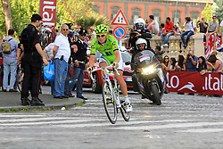 Napoli, Italy - Giro d'Italia - May 4, 2013 - Cameron WURF (CAN) leading the race for a long time