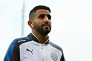 Riyad Mahrez (26) of Leicester City on the pitch before the Premier League match between Bournemouth and Leicester City at the Vitality Stadium, Bournemouth, England on 30 September 2017. Photo by Graham Hunt.