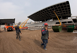 Four months before the opening of a new football stadium and sports arena in Stozice, on March 9, 2010, in Stozice, Ljubljana, Slovenia.  (Photo by Vid Ponikvar / Sportida)