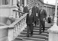 95407<br /> <br /> American President John Fitzgerald Kennedy (J.F.K.)'s visit to Ireland, June 1963.<br /> Se&aacute;n Lemass and JFK.<br /> (Part of the Independent Newspapers Ireland/NLI collection.)