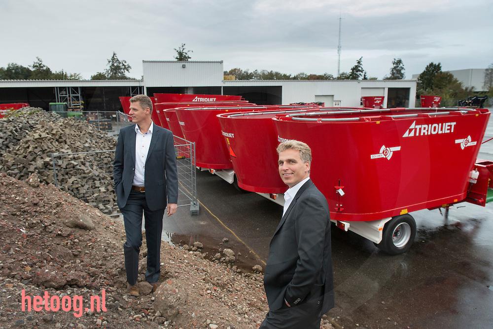 nederland, oldenzaal, 22okt2014 de gebroeders Robert (r) en Kees (l) Liet van het bedrijf TRIOLIET in Oldenzaal. Trioliet groeit en breidt uit . Foto Cees Elzenga